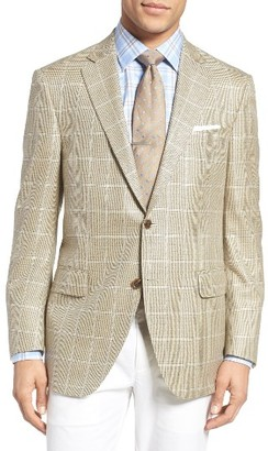 Men's Peter Millar Classic Fit Windowpane Wool Sport Coat $595 thestylecure.com