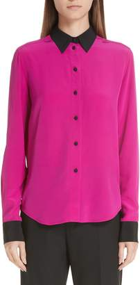 Marc Jacobs Contrast Collar Silk Shirt