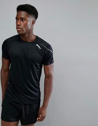 2XU Running active t-shirt in black mr4818a-blk