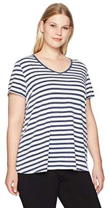 Calvin Klein Women's Plus Size Twist Front Cap Sleeve Pullover