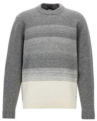 HUGO BOSS Knitted sweater in a wool blend with dégradé effect