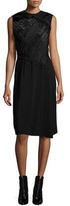 3.1 Phillip Lim Gathered Lace-Bodice Dress, Black $895 thestylecure.com