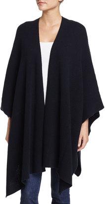 Neiman Marcus Cotton Blanket Wrap, Classic Navy $95 thestylecure.com