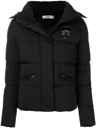 Fendi Karlito-appliqué padded jacket