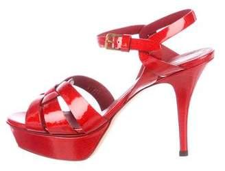 Saint Laurent Tribute Ankle Strap Sandals
