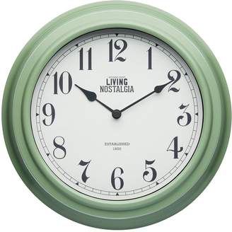 Living Nostalgia 25.5cm Wall Clock – English Sage Green
