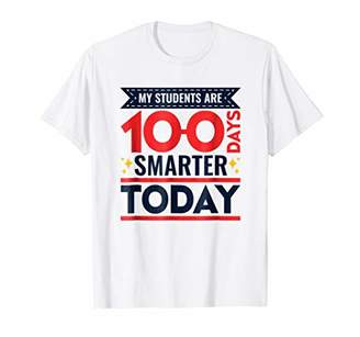 100 Days Of School T-Shirt For Teacher Smarter Quote
