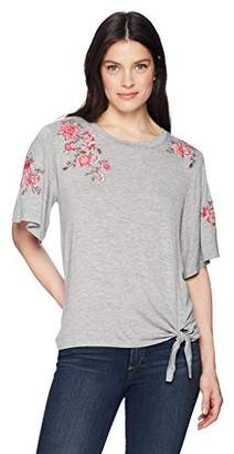Democracy Women's Knot Front TEE