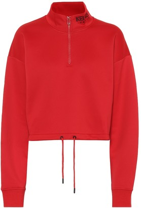 Kenzo Cropped cotton-blend sweatshirt