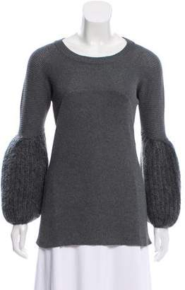 Miu Miu Scoop Neck Long Sleeve Sweater