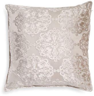 Made In India 20x20 Velvet Damask Pillow