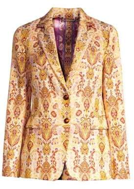 Etro Tapestry Single-Breasted Jacket