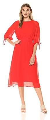 Maggy London Women's Gauze Chiffon Smocked Waist Dress