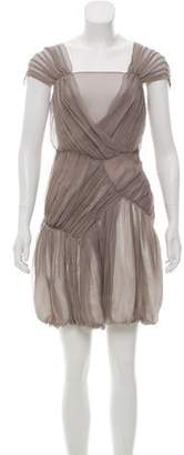 Anna Molinari Silk Sleeveless Dress