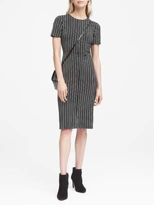 Banana Republic Side-Button Bi-Stretch Sheath Dress