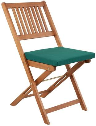 Very Pack of 2 Garden Chair Seat Pads - Green