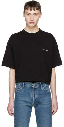Balenciaga Black Oversized Small Logo T-Shirt