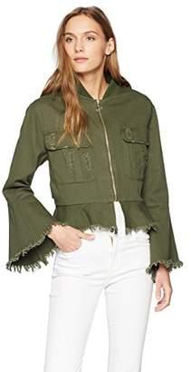 Bagatelle Women's Raw Hem Cotton Jacket