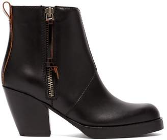 Acne Studios Pistol Leather Ankle Boots - Womens - Black