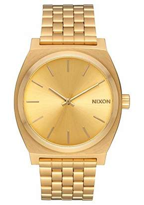 Nixon Time Teller A079 - /Gold - 134M Water Resistant Men's Analog Fashion Watch (37mm Watch Face