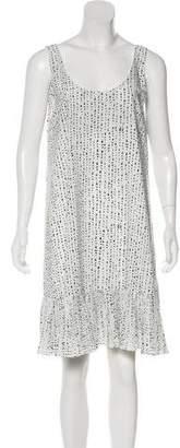 Hatch Printed Knee-Length Dress