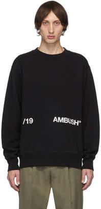 Ambush Black Logo Crewneck Sweatshirt