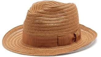 Borsalino Ribbon Embellished Panama Hat - Mens - Cream