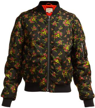 Gucci Floral-print bomber jacket