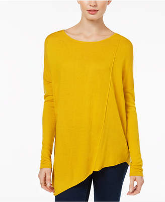 INC International Concepts I.n.c. Asymmetrical Tunic Sweater, Created for Macy's