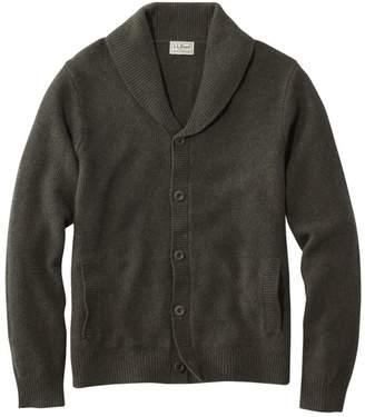 L.L. Bean L.L.Bean Men's Washable Lambswool Sweaters, Seed Stitch Cardigan