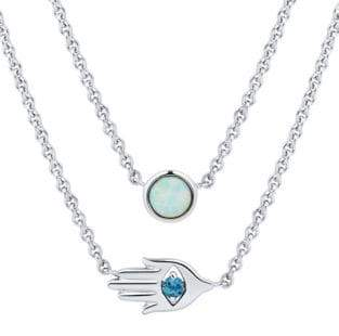 Fine Jewellery Crystal Layered Pendant Necklace