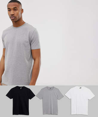 Asos Design DESIGN 3 pack relaxed t-shirt with crew neck save