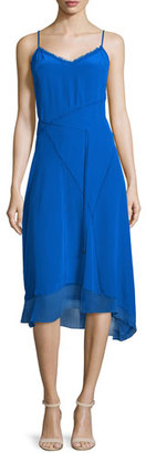 Elie Tahari Shirley Sleeveless Asymmetric-Hem Dress, Oasis $398 thestylecure.com