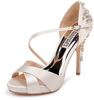 Badgley Mischka Fame Satin Platform Sandals