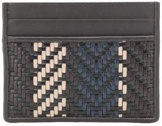 Ermenegildo Zegna woven cardholder wallet