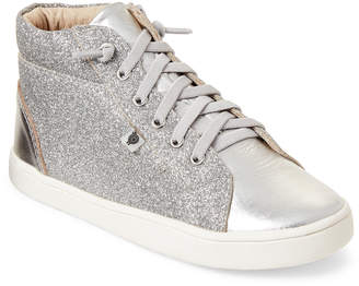 Old Soles Kids Girls) Silver Glam High-Top Sneakers