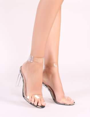 fd223fd0d824 Public Desire Slice Strappy Perspex High Heels in Camo