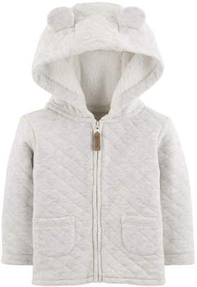 Carter's Baby Girls Hooded Quilted Jacket