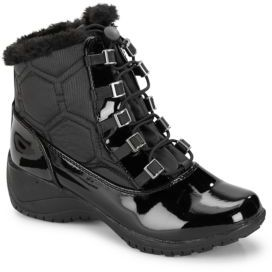 Faux Fur Collar Boots $75 thestylecure.com