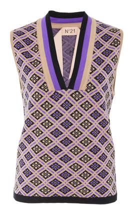 N°21 N 21 Mary Stretch Wool Knit Gilet