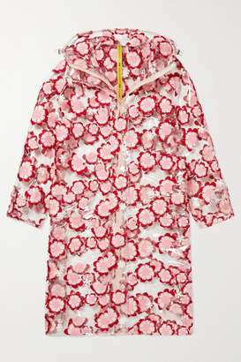 Simone Rocha Moncler Genius - 4 Hooded Embroidered Pvc Coat - Clear