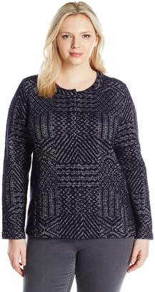 Lucky Brand Women's Plus Size Jacquard Sweater