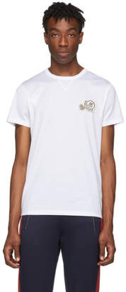 Moncler White Logo Patches T-Shirt