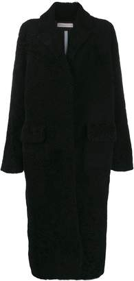 Inès & Marèchal textured long-length coat