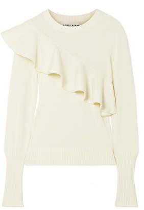 Apiece Apart Sterre Ruffled Cotton Sweater - Ivory