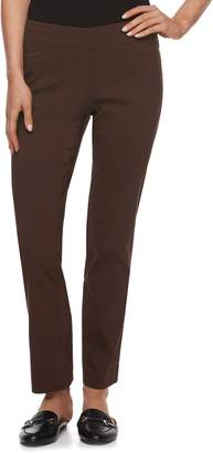 Apt. 9 Petite Brynn Pull-On Straight-Leg Dress Pants