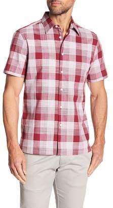 Perry Ellis Plaid Short Sleeve Slim Fit Shirt
