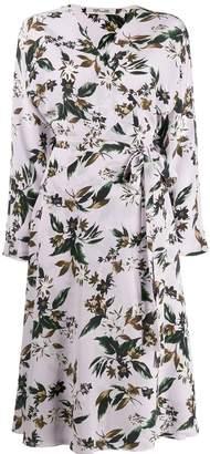 Diane von Furstenberg Elle crepe de chine midi wrap dress