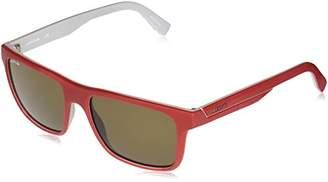 Lacoste Men's L876s Plastic Stripes and Piping Square Sunglasses