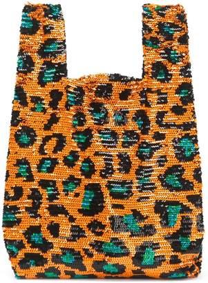 Ashish sequin leopard print tote bag